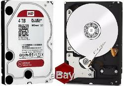 Western Digital 4TB RED NAS RAID WD Hard Drive SATA 6 Gb/s 64MB WD40EFRX 4 TB