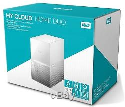 Western Digital 6TB WD My Cloud Home DUO Personal Cloud Storage WDBMUT0060JWT