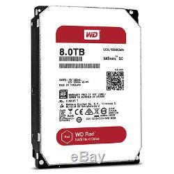 Western Digital 8TB RED NAS RAID WD Hard Drive128MB WD80EFZX WD80EFAX WDEFZX