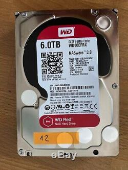 Western Digital WD60EFRX NAS 24/7 6 TB SATA 6 Gbit/s 5400U/min 3,5
