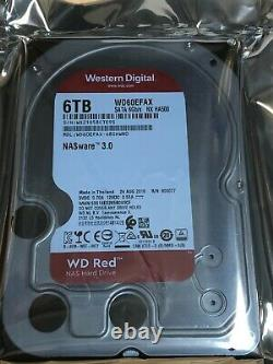 Western Digital WD Red 6TB NAS Hard Drive 5400RPM SATA 6 Gb/s 3.5 WD60EFAX